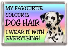 "Dalmatian Fridge Magnet ""My Favourite Colour is Dog Hair"" by Starprint"