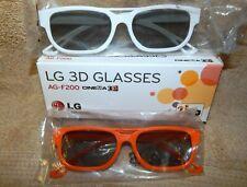 2 Pairs of LG AG-F200 3D Glasses LG Cinema for 2011 LG 3D LED HDTVs