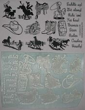 Cowboy Life UM sheet with 20 rubber stamps by Amazing