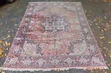 "rare old room size silk oriental rug carpet 9' 5"" x 12'"