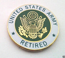 UNITED STATES ARMY RETIRED Military Veteran Hat Pin 15037 HO