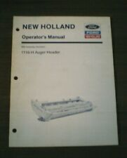 NOS Ford New Holland 1116-H Auger Header Operator's Manual - Free Shipping...