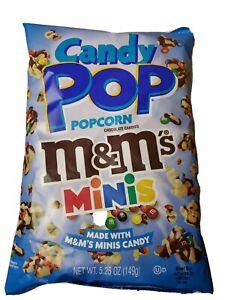 CANDY POP POPCORN M & M's MINIS made with M&M minis pop corn 5.25 oz
