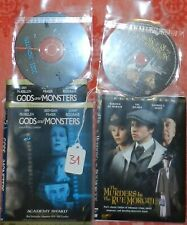 Dvd lot of 2 classic movies - Gods and Monsters / Murders in the Rue Morgue [31]