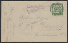 Austria-Hungary occ. of Serbia 1918 Censored postal stationery Krnjevo - Beograd