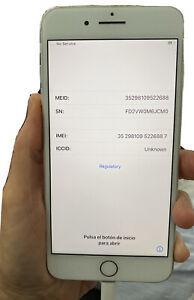 Apple iPhone 8 Plus - 64GB - Silver (Unlocked) A1864 (CDMA + GSM) Used