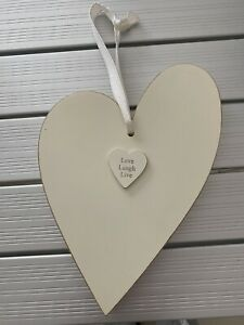 Wooden Hanging Decoration Love laugh Life NEW
