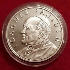 More details for malta 2005 1 ounce silver proof 100 liras pope john paul capsule coa med92