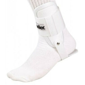 NEW MUELLER WHITE LITE ACTIVE ANKLE BRACE HINGED BASKETBALL VOLLEYBALL SUPPORT