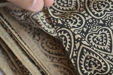 5 Yard Indian Handmade printed Fabric hand Block print Pan Cotton Dress fabric