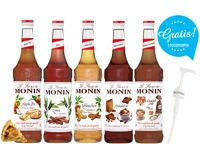 "11,43€/l MONIN-SET ""Winter-Edition""+ 5 Pumpen gratis 5 x 0,7 Liter"