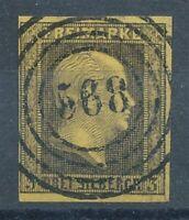 304005) Preußen Nr.4 gestempelt mit Nummernstempel 568 Hagen