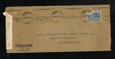 1940 Censored Cover Johannesburg South Africa To Los Angeles Chamber Ww Ii