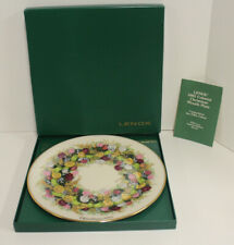 Lenox Colonial Christmas Wreath Collector Plate; 1985 Connecticut 5th Colony