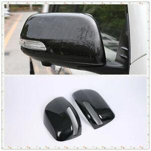 For Land Cruiser Prado J150 2010-2019 Side Door Rearview Mirror Cover Trim 2pcs