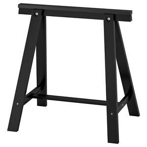 IKEA Tischbock Table Leg For Table Stand Table Legs Tischböcke Pine Black