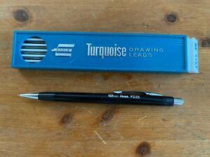 Vintage PENTEL P225 Mechanical Pencil: Black Plastic & Chrome, 0.5 mm lead