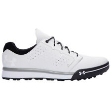NEW Mens Under Armour Tempo Hybrid Golf Shoes White / Black - Choose Your Size!