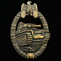WWII WW2 German 1957 Panzer Assault Badge in Bronze Army Military Order Medal