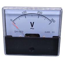 Us Stock Analog Panel Volt Voltage Meter Voltmeter Gauge Dh 670 0 300v Ac