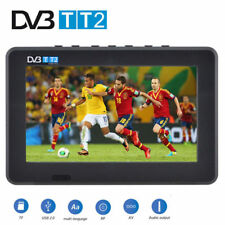 "Mini Portátil 7"" Inch LED HD TV DVB-T/T2 Televisor Soporte AV/USB/TF Digital"