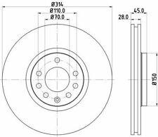 MINTEX MDC1674 BRAKE DISC Front