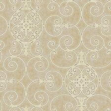 Patty Madden Gold Scroll Ironwork with a Sheen on Easy Walls Wallpaper PSN10549