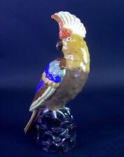 farbenfroher Haubenkakadu - Linzer Keramik AUSTRIA - Art Deco  um 1920