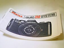 Pentax Asahi Auto 110 System Accessory Brochure Guide 33 pages English