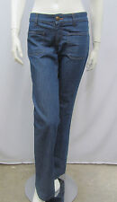 TOM FORD GUCCI JEANS PANTS BLUE TAN GOLD STITCHING ANIMAL PRINT BACK PATCH 40 S