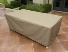 "Rectangular or Oval Table Cover 84""L x 44""W x 25""H Taupe"