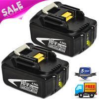 2-Pack For Makita BL1840B-2 18-Volt 4.0Ah LXT-400 Lithium-Ion Battery BL1850B-2