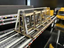 1/64 Panel Rack with Glass Panel Load for Tractor Trailers Drywall Wood Glass