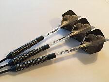 28g Black NODOR Tungsten Darts Set, Black Eagle Flights,  Clear Pro Grip Stems