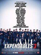 Affiche 40x60cm EXPENDABLES 3 (2014) Sylvester Stallone, Statham, Jet Li NEUVE