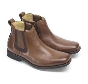 Anatomic & Co Amazonas Chelsea Boot Tan Soft Leather Wide Fitting rrp £140