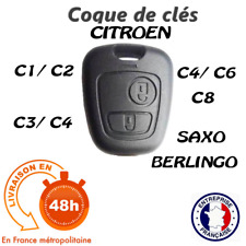 COQUE CLE PLIP CLE TELECOMMANDE POUR CITROEN C1 C2 C3 C4 C5 C8 2 BOUTON
