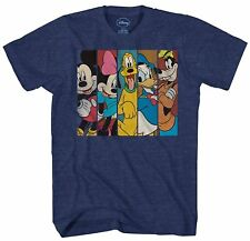 Disney Mickey Minnie Pluto Donald Duck Goofy Fun Mens Adult Graphic T-shirt Tee