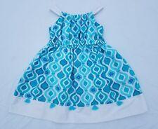 Girls Gymboree Dress Size 5 Aqua Summer Sundress Summer Blue Geometric