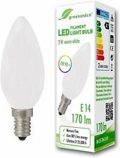 E14 LED Filamento Vela Esmerilado 2W (reemplaza a 18W) 170lm 2700 2 para 6.99