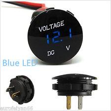 Mini Runde Autos 6-30V Blau LED Digital Display Voltmeter Gauge Messgerät Kit