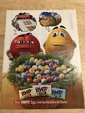 M&Ms - 2003 Magazine Print Ad - New M&Ms Eggs, now speckled blue for Easter.