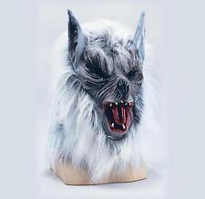 Grey Wolf Overhead Mask Killer Werewolf Scary Red Riding Hood Halloween Fancy Dr