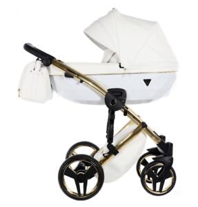 JUNAMA DIAMOND INDIVIDUAL BABY PRAM 3in1 CARRYCOT + PUSHCHAIR + CAR SEAT + ACCS