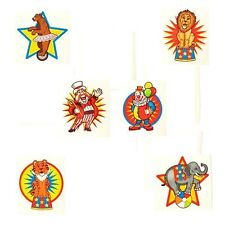 Carnival Circus Tattoos (72) Big Top Birthday Party Favor Kids Goody Stuffer