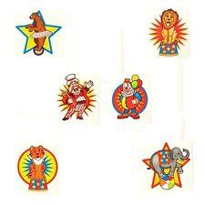 Carnival Circus Tattoos (72) Big Top Birthday Party Favor Kids Goody Stuffer