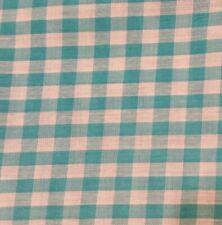 Tela Polycotton Tartán Azul Rosa Poly Algodón