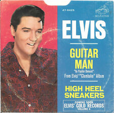 ELVIS PRESLEY Guitar Man on RCA rock 45 with picture sleeve