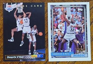 1993 TOPPS & UPPERDECK SHAQUILLE O'NEAL NBA BASKETBALL ROOKIE LOT OF 2 EX-NMMT