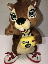 "Great Wolf Lodge Sammy Squirrel Camera Plush Stuff Animal 10"""